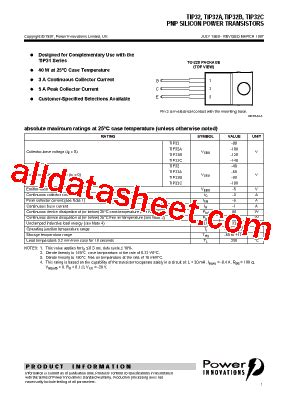 transistor tip 32 sebagai saklar tip32 datasheet pdf power innovations ltd