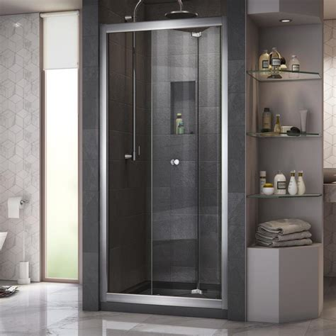 5 Shower Door Shop Dreamline Butterfly 30 In To 31 5 In W X 72 In H Frameless Bi Fold Sliding Shower Door At