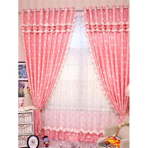pink girl curtains bedroom romantic pink curtains with sweetheart pattern princess