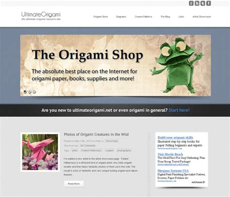 Ultimate Origami - top 10 websites inspired by the of origami