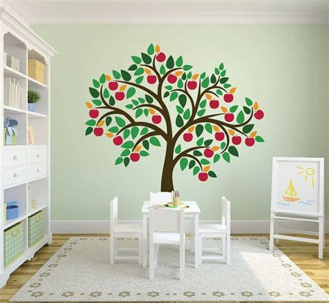 apple wall stickers tree wall decals apple tree decal custom colors