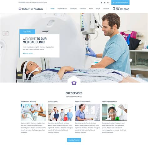 theme wordpress free health medical wordpress theme for clinics doctors dentists