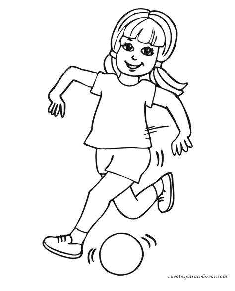 imagenes de niños jugando sin colorear una chica corriendo para colorear imagui