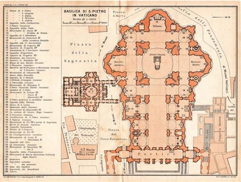 basilica floor plan saint peter basilica architectural floor plan vatican city