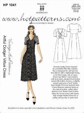 pattern review pattern sales hotpatterns 1041 vintage hot patterns artful dodger virtue