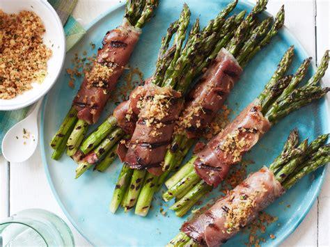 prosciutto wrapped asparagus  lemony bread crumbs recipe michael chiarello food wine