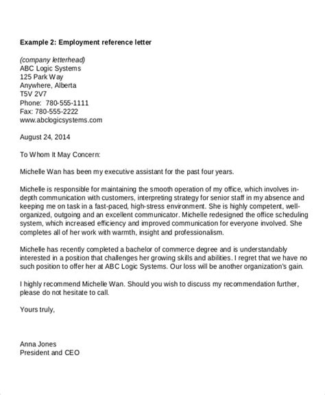 Reference Letter From Employer For Embassy Letters In Pdf