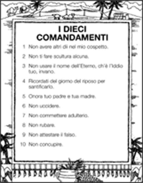 tavola dei dieci comandamenti primaria 6 antico testamento i dieci comandamenti