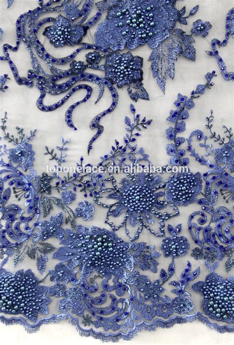 embroidery and on fabric fashion heavy beaded lace fabric 3d flower lace