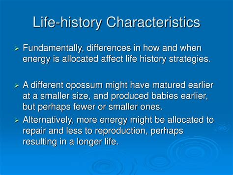 characteristics of biography ppt ppt life history characteristics powerpoint presentation