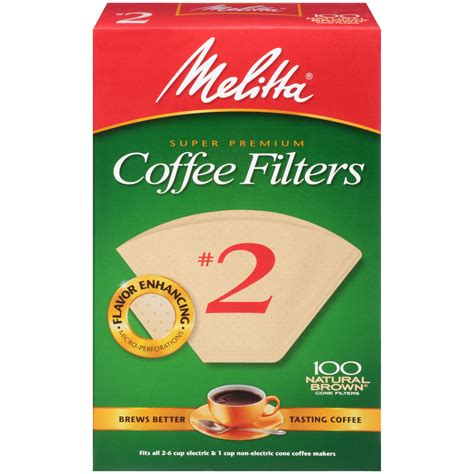 Coffee Filter melitta 2 cone coffee filters brown 100 ct jet