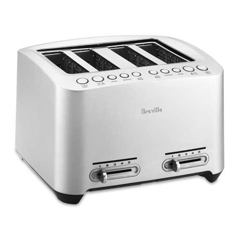 Brevelle Toaster Breville Die Cast 4 Slice Smart Toaster Williams Sonoma