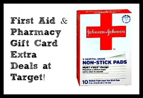 Target Pharmacy Gift Card - extra target deals gift card deals on pharmacy first aid items southern savers