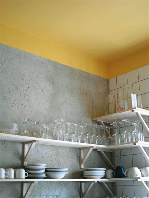 Yellow Walls Grey Ceiling A Punchy Touch Paint The Ceiling Yellow Kitchen