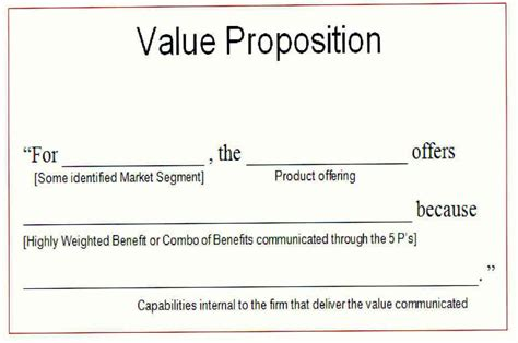 value proposition template gsmpr 604 fall 2008 section 07 ss week 5