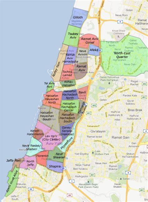 tel aviv map search tel aviv neighborhoods for apartments for sale
