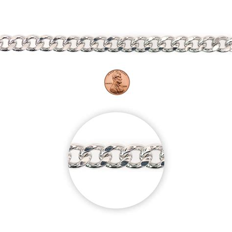Blue Moon Chain Curb Link Chunky Thick Silver