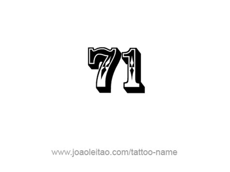 seventy one 71 number tattoo designs page 2 of 4