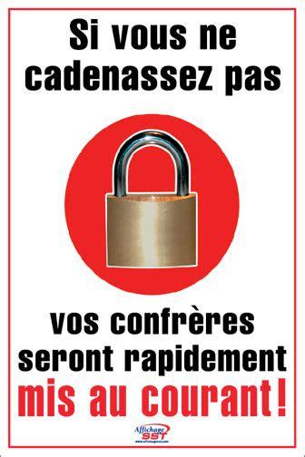 cadenassage asp affiches s 233 curit 233 cadenassage cadenas obligatoire au