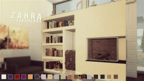1980 S Home Decor Images by Onyx Sims Zahra Fireplace Set Sims 4 Downloads