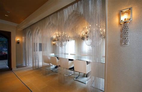 Chaign Room by Crushing On David Bromstad And Aluminum Chain Curtains In