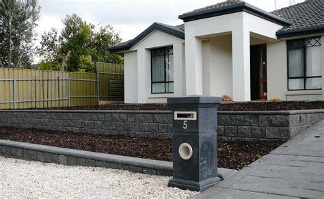 front garden wall ideas complete garden landscaping makeover craigmore sa
