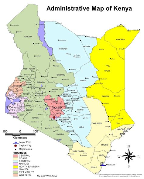 map of kenya impressum