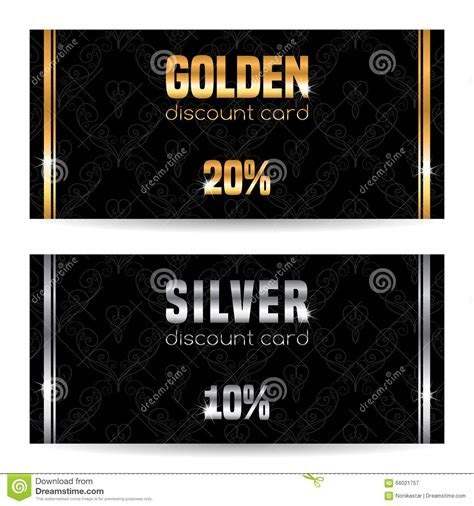 discount card template stock vector image 66021757