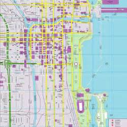 Chicago Streets Map by Chicago Cityflash Street Map Randal Birkey