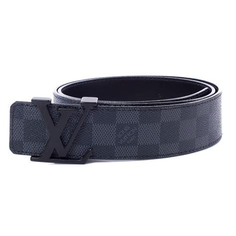 Jual Belt Louis Vuitton Lv Damier Graphite Black Mirror Quality 9 louis vuitton damier graphite lv initials belt 85 34 38616