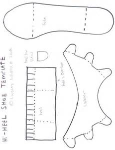 templates for shoes hi heel shoe temp the frugal crafter