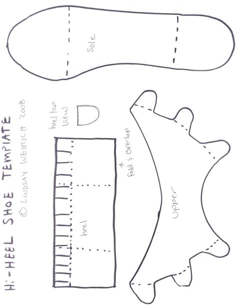 paper shoe template new calendar template site