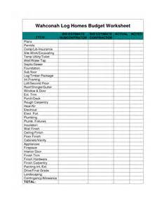 Residential Construction Budget Template Best Photos Of Home Budget Worksheet Home Budget