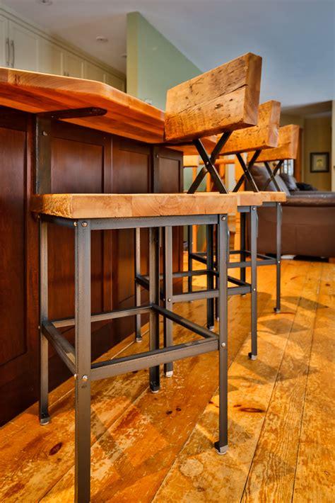 custom furniture  muskoka barn board bar stools metal mind forge