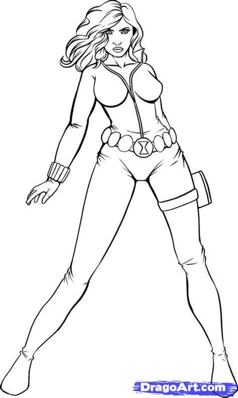black widow chibi coloring pages coloring pages