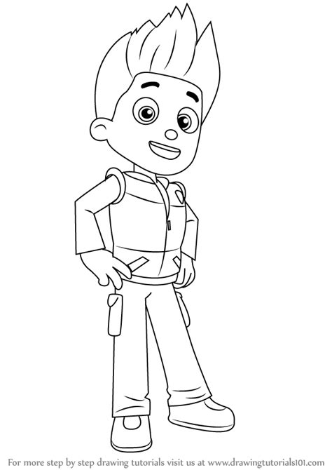 free coloring pages of paw patrol ryder