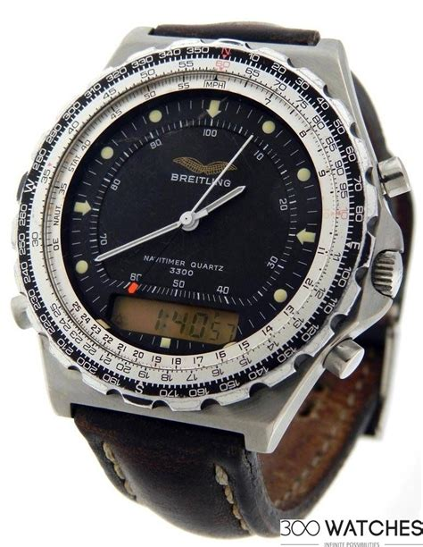 mens breitling navitimer jupiter iraqi air analog