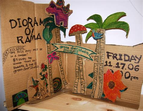 shoe box book report ideas diorama invite