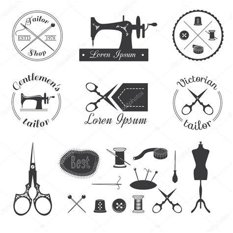 yahoo design elements набор старинных портной логотип векторное изображение
