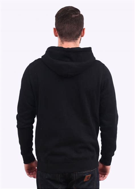 Hoodie Zipper Logo Undefeated Merah undftd 5 strike zip hoody black