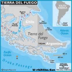 tierra fuego south america map tierra fuego map