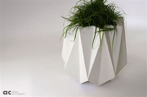 kronen  flower pot white concrete     cm