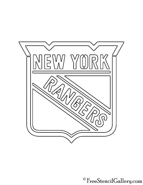 rangers hockey coloring pages nhl new york rangers logo stencil free stencil gallery
