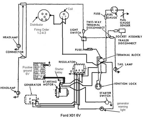 64 ford 4000 gas tractor wiring diagram wiring diagrams