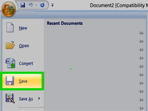 word 2016 creating and opening documents full page