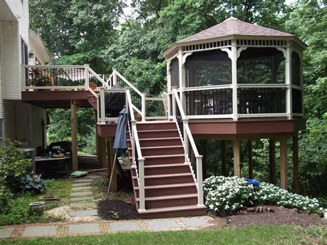 gazebo deck decks with gazebos deck construction decks r us