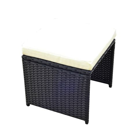 Outsunny 11 Piece Outdoor PE Rattan Wicker Table and Chair