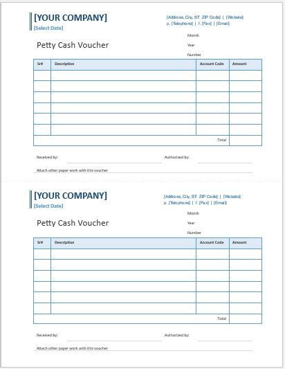Petty Receipt Voucher Template by Petty Voucher Templates For Ms Word Word Excel