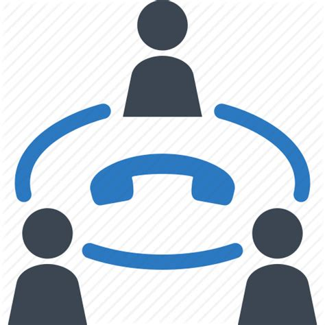 mobile phone conference call business communication conference call teamwork icon