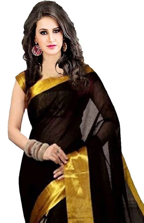 Curtains For Bed buy black golden goli with embroidery work cotton saree online